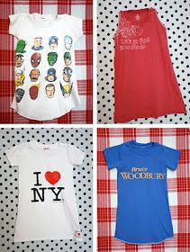 Turn your T-shirts into little girls night gowns
