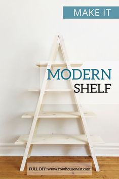 DIY Make this beautiful A frame shelf or plant stand this winter - perfect for styling, storage or p Diy Furniture Projects, Diy Projects, Woodworking Projects, Woodworking Garage, Furniture Design, A Frame Swing Set, A Frame Chicken Coop, Cadre Diy, Diy Swing