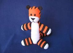 Make your own plushie Hobbes. Follow the link at the link ...