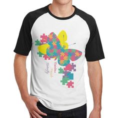 Autism Awareness Rainbow Puzzle Butterfly offensive t shirt mens 3/4 Sleeve Raglan design http://ten-shirts.myshopify.com/products/autism-awareness-rainbow-puzzle-butterfly-offensive-t-shirt-mens-3-4-sleeve-raglan-design?utm_campaign=crowdfire&utm_content=crowdfire&utm_medium=social&utm_source=pinterest