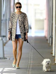 Olivia Palermo shorts and leo