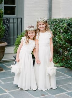 Perfectly matching: http://www.stylemepretty.com/2015/06/19/the-most-adorable-flower-girls-ever/