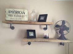 Industrial shelf by JRyanDesign on Etsy