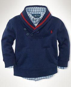 Ralph Lauren Baby Sweater, Baby Boys Shawl Pullover - Kids Baby Boy (0-24 months) - Macy's