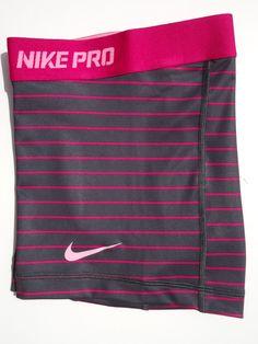 "New M Nike Pro Core 2 5"" Grey Fuchsia Women's Dri Fit Compression Shorts Med   eBay"