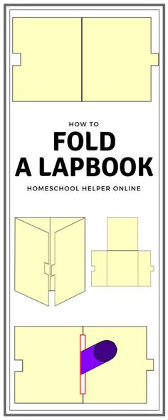 How to Fold a Lapbook - Homeschool Helper Online - Kindergarten Homeschool Online Programs, File Folder, Interactive Notebooks, Learning Centers, School Projects, Homeschool, Classroom, Teaching, Activities