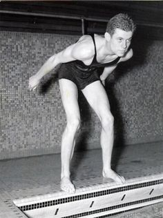JFK at the Harvard pool. His best sport was swimming. At the November time-trials his backstroke earned him a place on what was the greatest Freshman team in Harvard history.