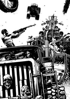 By Nathan Ramirez Mad Max Fury Road, Mad Max Tattoo, Mad Max Poster, Illustrations, Illustration Art, Mc Bess, F1 Posters, Movie Posters, Imperator Furiosa