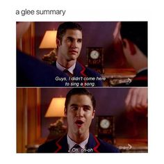 The warblers just sort of do that to you. And glee in general