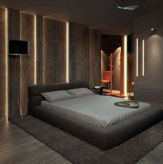 Bedroom from penthouse in Kiev, designed by Sergey Makhno