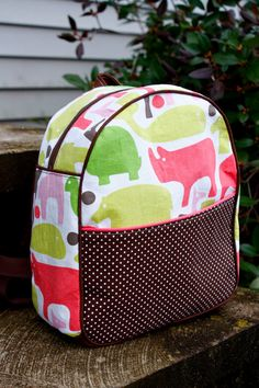Pink Zoo Animal Toddler Preschool Backpack with front by ZaaBerry, $34.00