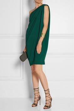 Lanvin | One-shoulder crepe dress | NET-A-PORTER.COM
