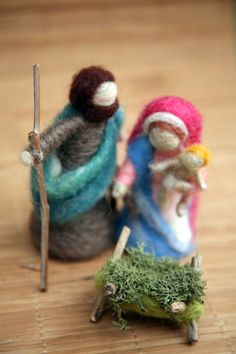 Needle Felted Nativity Set Waldorf Nativity Mary and by boridolls