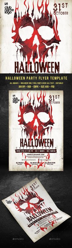 72 best Halloween Party images on Pinterest Event flyers, Flyer