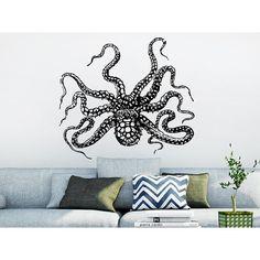 Octopus Tentacles Sprut Kraken Ocean Sea Animal Housewares Sticker Decal size 22x26 Color