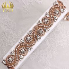 Bridal belt for who loves rose gold. 10pcs link(1piece consult me):http://bit.ly/2b54XUC