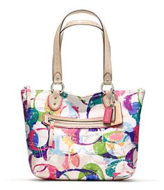 COACH POPPY STAMPED C SMALL TOTE   Dillard's Mobile
