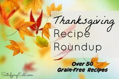 Here is my Thanksgiving Roundup, full of delicious, tried and true recipes sure to be satisfying you and your family! Have a Happy & Healthy Thanksgiving!