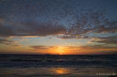Sunset at Kommos Beach, Kalamaki, South of Crete, Greece