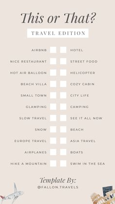 Travel Style Beach - Travel The World Decor - - Travel Background Free Printable - Ideas De Instagram Story, Instagram Story Questions, Creative Instagram Stories, Instagram Story Template, Instagram Templates, Bingo Template, Checklist Template, Quote Template, Fun Questions To Ask