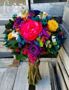 Check out these color combos Prom Flowers, Beautiful Flowers, Wedding Flowers, Our Wedding, Dream Wedding, Wedding Ideas, Mexican Themed Weddings, Mexican Fiesta Party, Mexican Birthday