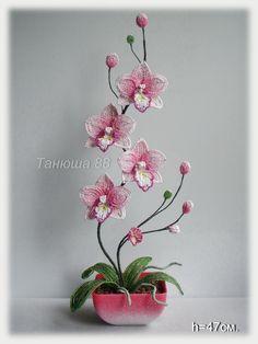 "** ""3D Orchid"" Bead Weaving @biser.info"