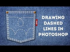 Drawing Dashed Lines in Photoshop - YouTube