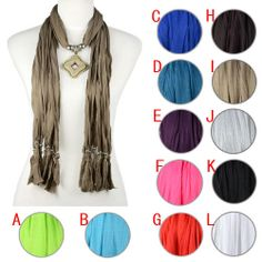 Aliexpress.com : Buy french style fashion scarf with jewelry pendant charms 12 colors, NL 1968 from Reliable womens western scarves suppliers on Well Done Fashion Jewelry Co.,Ltd. $12.59