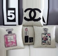 To know more about CHANEL cushion, visit Sumally, a social network that gathers together all the wanted things in the world! Featuring over other CHANEL items too! Chanel Dekor, Cute Pillows, Throw Pillows, Cushion Covers, Pillow Covers, Just Dream, Home And Deco, Beauty Room, Cushions On Sofa