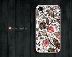 classic flower graphic  Hard case Rubber case iphone by Atwoodting, $6.99