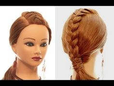Easy hairstyle for every day. Braided hairstyles for long hair. Try New Hairstyles, Loose Hairstyles, Summer Hairstyles, Braided Hairstyles, Hair Dos, My Hair, Ribbon Hairstyle, Different Braids, Braids For Long Hair
