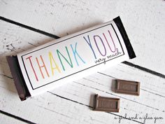 free candy bar wrapper thank you (and congrats) printables!