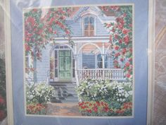 See Sally Sew-Patterns For Less - Red Rose Cottage Cross Stitch Needlepoint Bucilla 41178 Kit , $22.00 (http://stores.seesallysew.com/red-rose-cottage-cross-stitch-needlepoint-bucilla-41178-kit/)