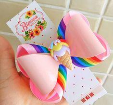 Cute Polymer Clay, Cute Clay, Girl Hair Bows, Girls Bows, Diy Ribbon, Ribbon Bows, Bow Template, Hair Bow Tutorial, Handmade Tags
