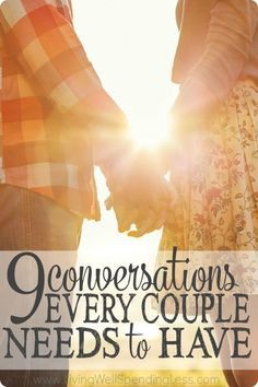 Real marriage can be hard. When the honeymoon is over and the kids and obligations start to fill our time, it is easy to forget how important regular discussions about things that truly matter can be. Don't miss these 9 conversations every couple needs to have, then set a date with your spouse to get caught up! via LWSL