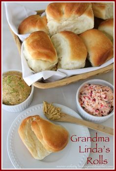 Grandma Linda's Rolls are light and fluffy and a must at the Holiday!
