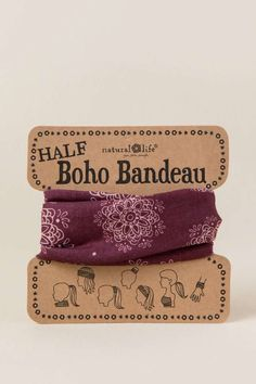 Half Boho Bandeau by Natural Life in Maroon Medallion