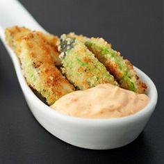 Avocado Fries with Roast Garlic Dip - FeedGoodFood.com