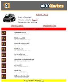 Tablero de control de tu auto en AUTOAlertas para Android.
