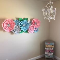 Awesome paper flower backdrop from Backdrop In a Box