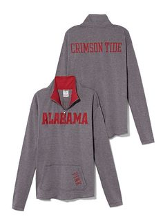 University of Alabama Raw Half-zip Pullover