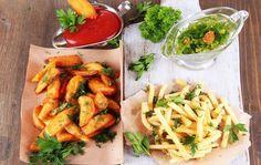 Afla care sunt cele mai bune sosuri pentru cartofi | Jurnal de reţete Aioli, Tzatziki, Ketchup, Chicken Wings, Vegetarian Recipes, Mai, Favorite Recipes, Snacks, Cooking