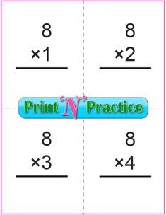 Fun multiplication worksheets to print or file. PDF worksheets, flash cards, charts, and videos. Multiplication Flash Cards Printable, Multiplication Worksheets, Kids Math Worksheets, Printable Worksheets, Printable Cards, Make Flash Cards, Math Drills, Math For Kids, Elementary Math