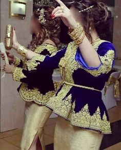 160 Likes, 1 Comments – Couturiere Tlemcenienne ( on Ins… - Loydas Fashion Afghan Clothes, Afghan Dresses, Traditional Fashion, Traditional Dresses, Mode Kimono, Hijab Fashion, Fashion Dresses, Oriental Dress, Pretty Dresses