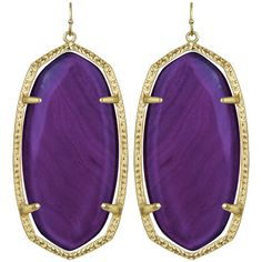 """Made from 14k gold-plated brass. Reflecting a handmade artistry using natural stones, jewelry may have slight variatons in color.  Earrings measure 1""""W x 2.25""""L http://www.laylagrayce.com/?ssaid=460647"""