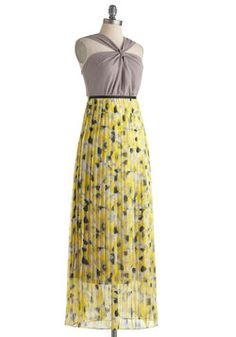 Melodious Yellow Dress, #ModCloth