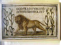 O LEO PRAE SUMISTI EXPEDISTI DEDICASTI - Bardo Museum. Tunisia. III sec. d.C.