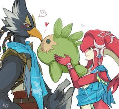 Mipha and Revali | #BreathOfTheWild #NintendoSwitch