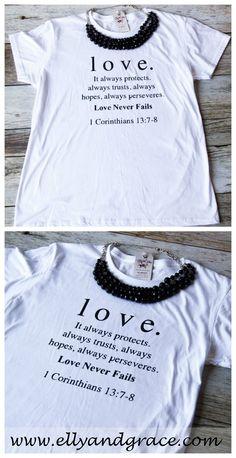 de4d1a1e 1 Corinthians 13 Love Classic Short Sleeve Shirt. Christian Tees, Christian  Clothing ...