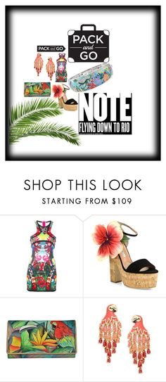 """""""Let's Go To Rio"""" by dimeond711 ❤ liked on Polyvore featuring Dsquared2, Brian Atwood, Anuschka, Kate Spade and Belle Etoile"""